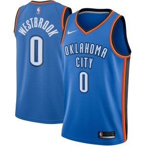 Men's Oklahoma City Thunder Russell Westbrook Nike Blue Swingman Jersey - Icon Edition