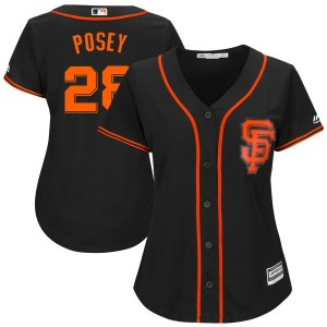 Women's San Francisco Giants Buster Posey Majestic Black Alternate 2017 Cool Base Player Jersey