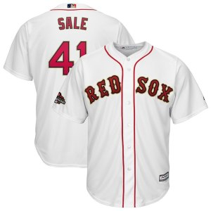 Men's Boston Red Sox Chris Sale Majestic White 2019 Gold Program Cool Base Player Jersey