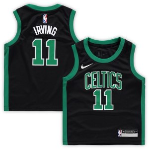 Preschool Boston Celtics Kyrie Irving Nike Black Replica Jersey - Statement Edition