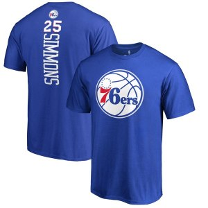 Men's Philadelphia 76ers Ben Simmons Fanatics Branded Royal Backer Big & Tall T-Shirt
