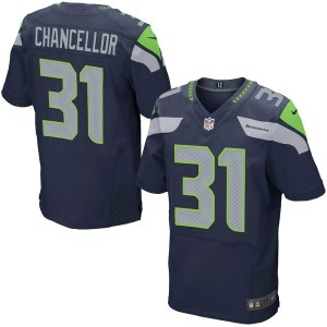 Men's Seattle Seahawks Kam Chancellor Nike College Navy Elite Jersey