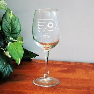 Philadelphia Flyers 12oz. Personalized Wine Glass