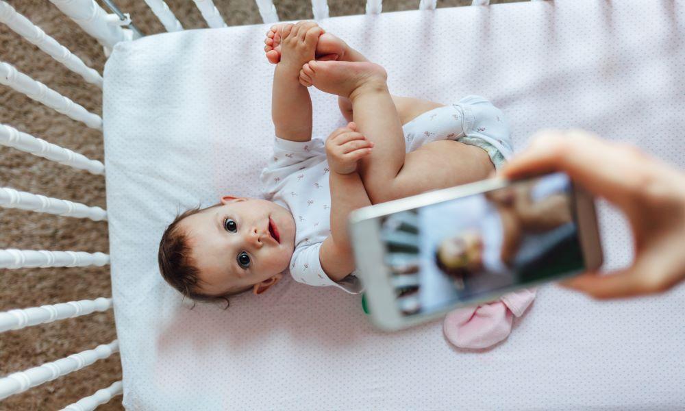baby passport photo white background