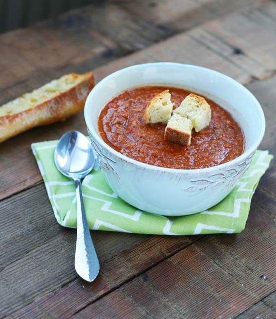 Tomato and lentil soup recipe