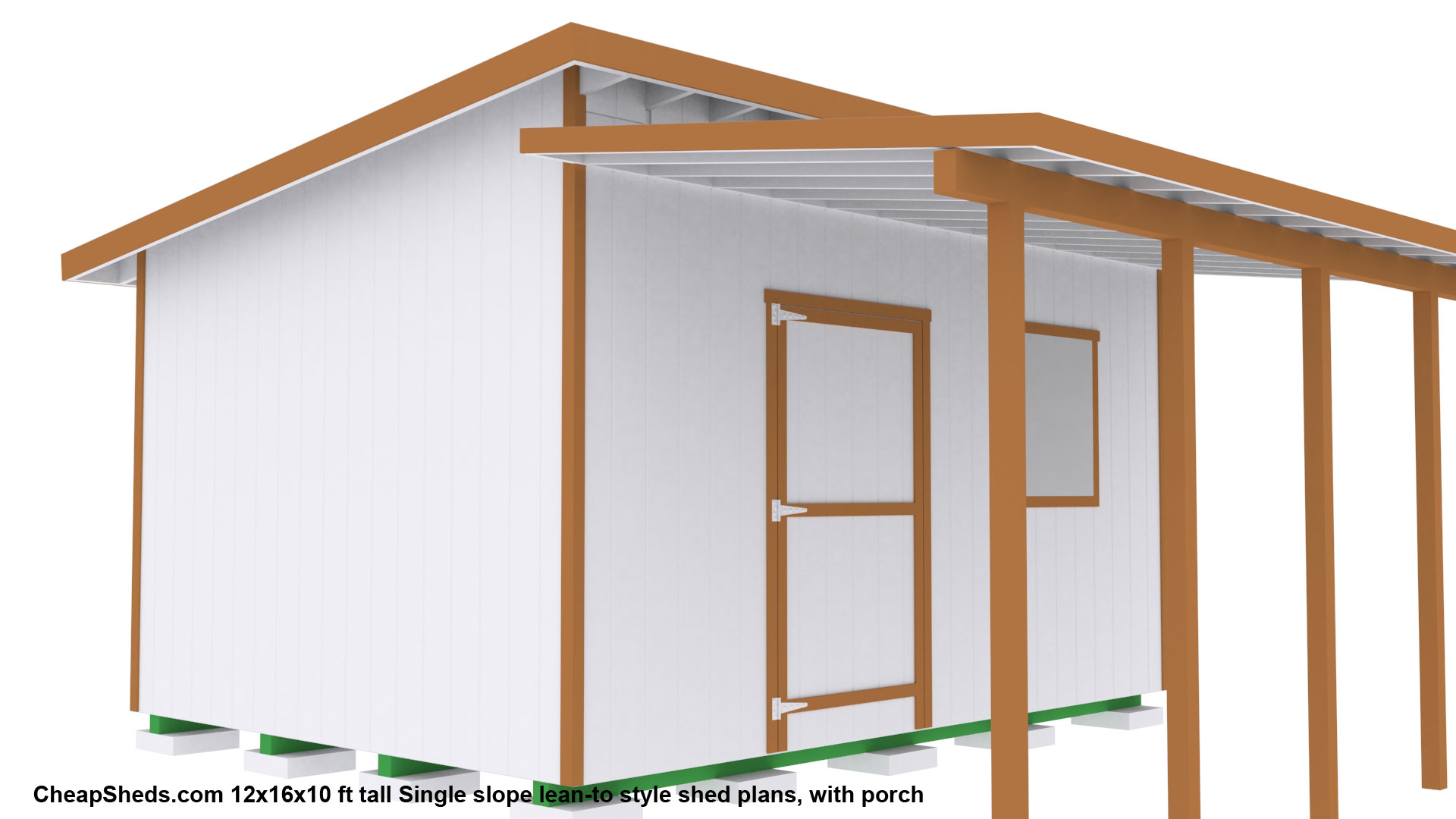 Lean to style sheds for How to build a sloped roof shed