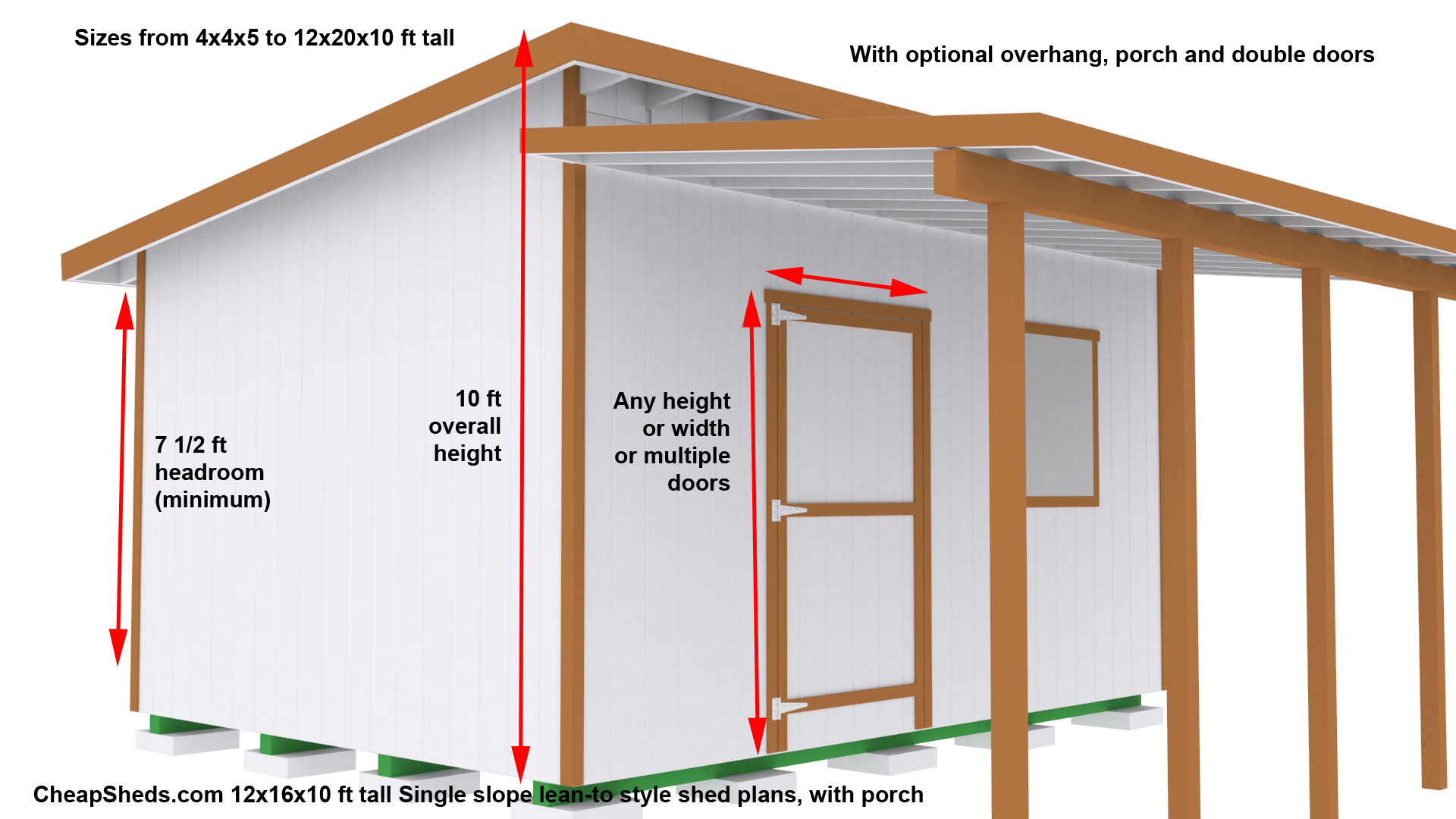 Lean to style sheds for Lean to house plans