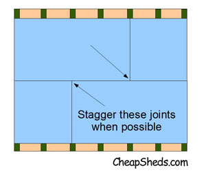 Stagger the seams of your roof sheeting