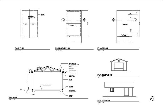 24x40 4 Car Garage Plans Blueprints Free Materials – 32X40 Garage Plans