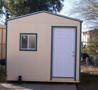 storage shed with window