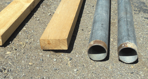 move a shed pipe rollers