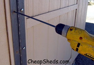 Drill For Hinge Shed Door
