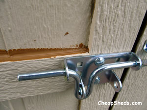 caulk your storage shed