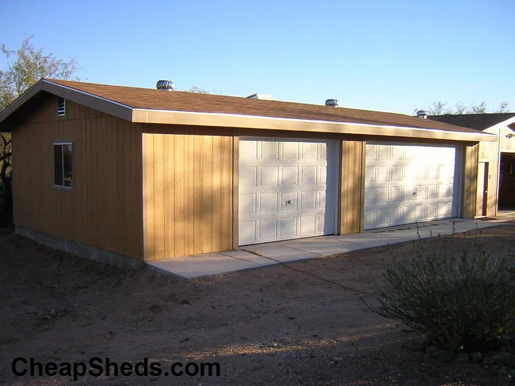 Custom 3 car garage