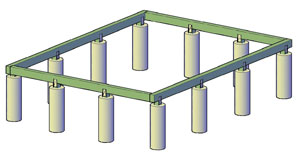 How to build a shed foundation for Post and pillar foundation