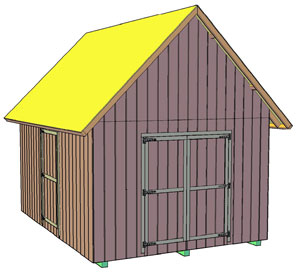 12x16 Shed With 12/12 Pitch