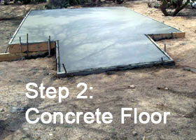 Step 2: Concrete Floor