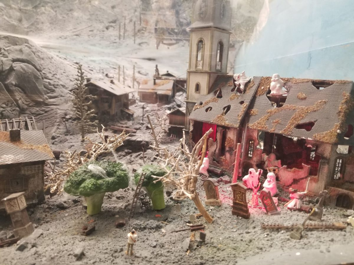 Haunted destroyed village at Miniatur Wunderland