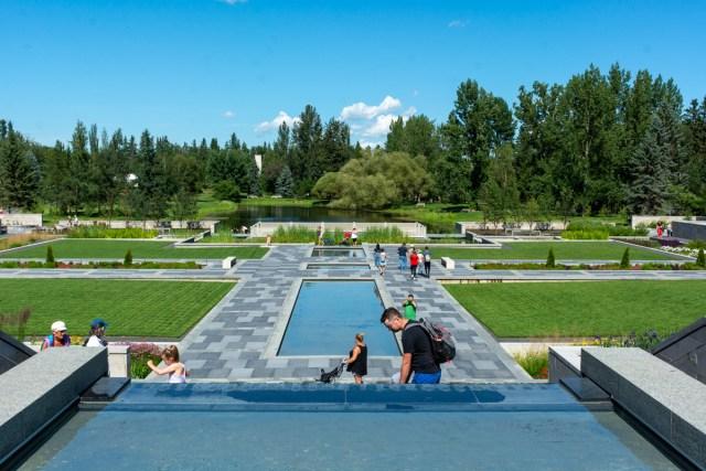 The Aga Khan garden at the University of Alberta Botanic Garden