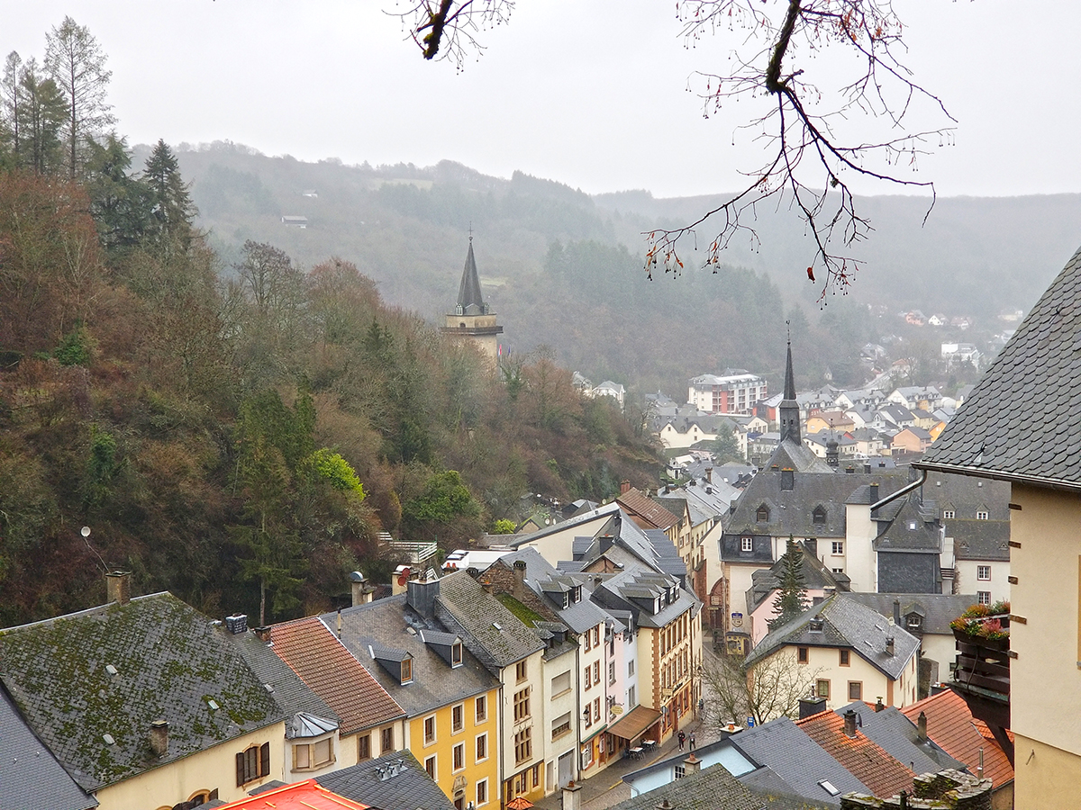 The village of Vianden in Luxembourg