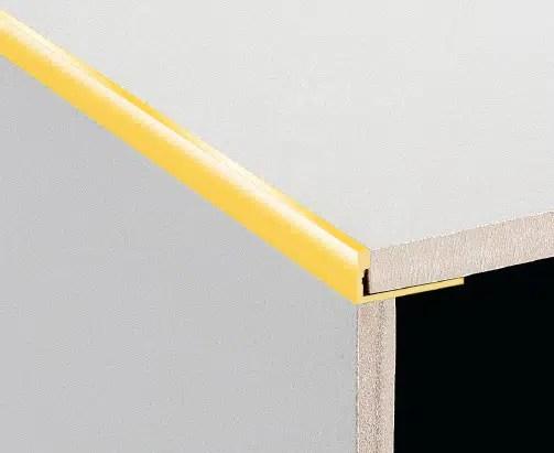 dta tile trim aluminium angle 12mm bright gold 1 metre
