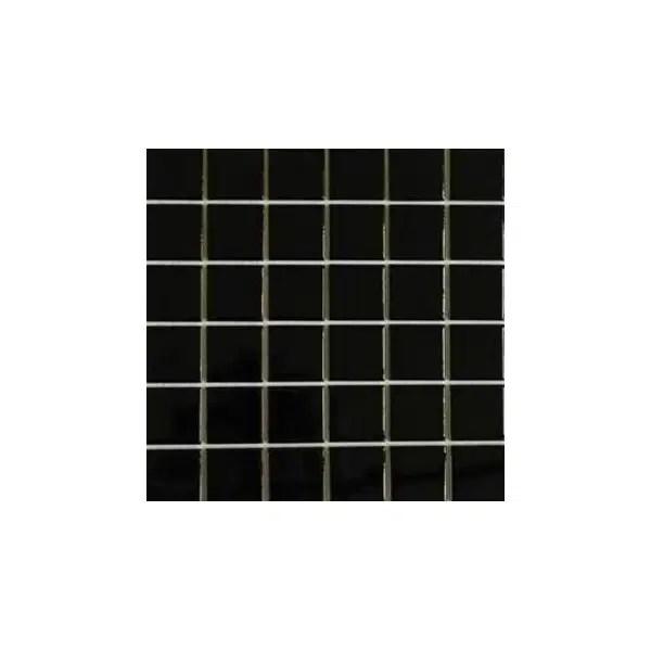 50x50 ral 1500 black nn gloss mosaic tiles 300x300 sheet