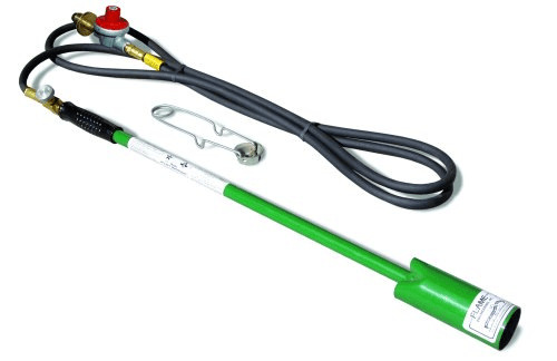 Controlling weeds using a flamethrower