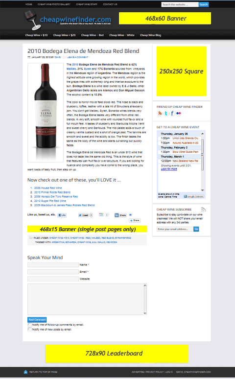 advertise with CheapWineFinder