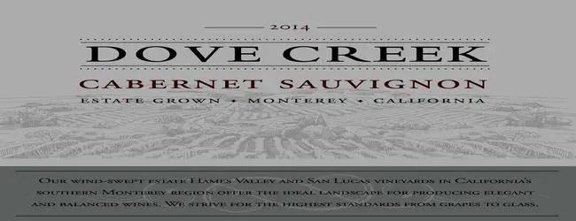 Dove Creek Monterey Cabernet Sauvignon 2014