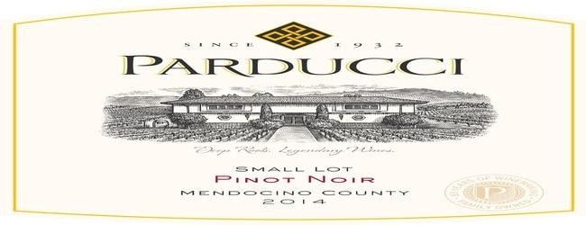 Parducci Small Lot Mendocino County Pinot Noir 2014