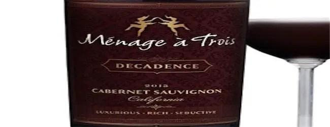 Ménage à Trois Decadence Cabernet Sauvignon 2015