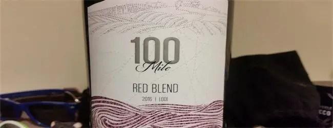 100 Mile Red Blend Lodi 2016