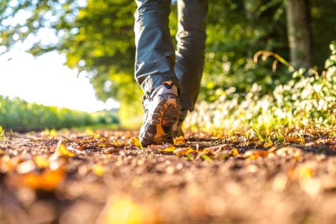 Man walking outdoors
