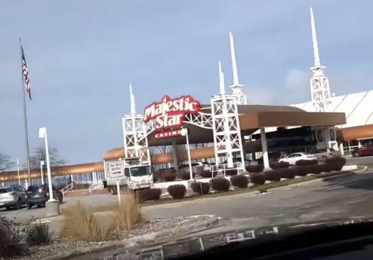 The entrance to Majestic Star Casino in Gary, Indiana