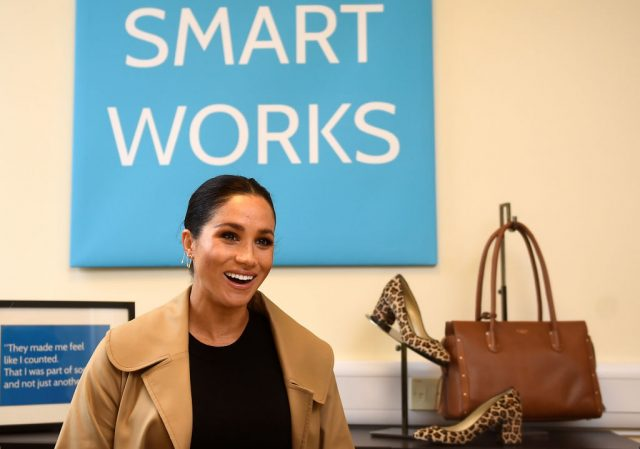 Meghan Markle during a visit to Smart Works on January 10, 2019