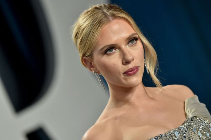Scarlett Johansson looking out of camera