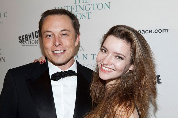 Elon Musk and Talulah Riley attend The Huffington Post pre-inaugural ball at the Newseum on Jan. 19, 2009