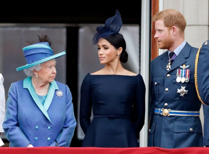 Queen Elizabeth Meghan Harry