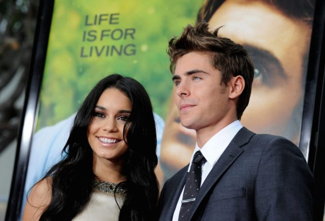 Vanessa Hudgens (L) and Zac Efron arrive at the premiere of Universal Pictures' 'Charlie St. Cloud'