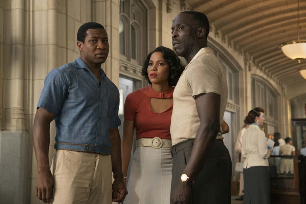 Jonathan Majors, Jurnee Smollet, and Michael K WIlliams