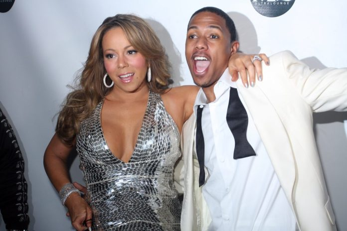 Mariah Carey and Nick Cannon attend New Years Eve at M2 Ultra Lounge on December 31, 2009 in New York City.