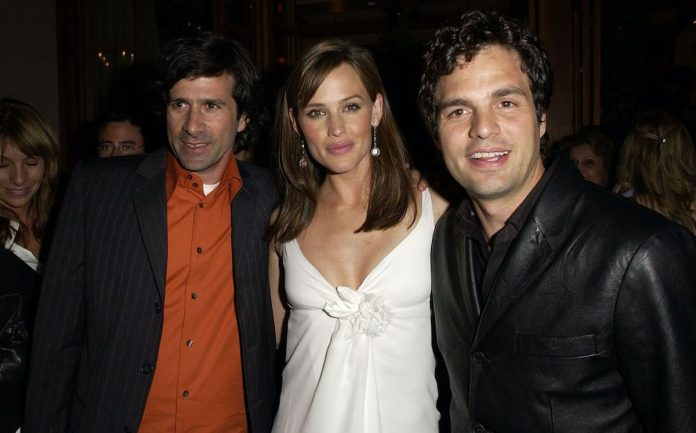 Gary Winick, Jennifer Garner, and Mark Ruffalo at the premiere of '13 Going on 30 'after the party