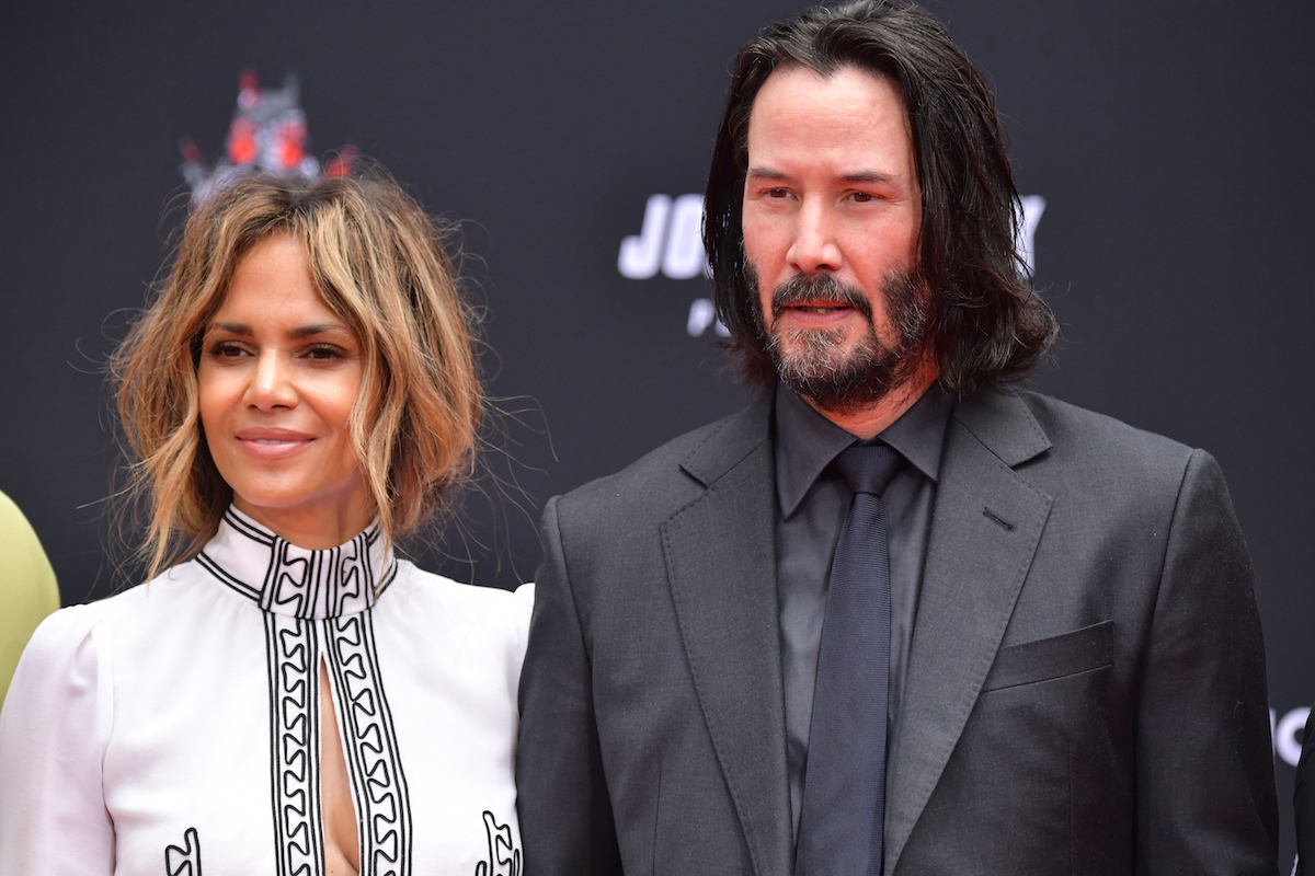 Halle Berry and Keanu Reeves at TCL Chinese Theater IMAX