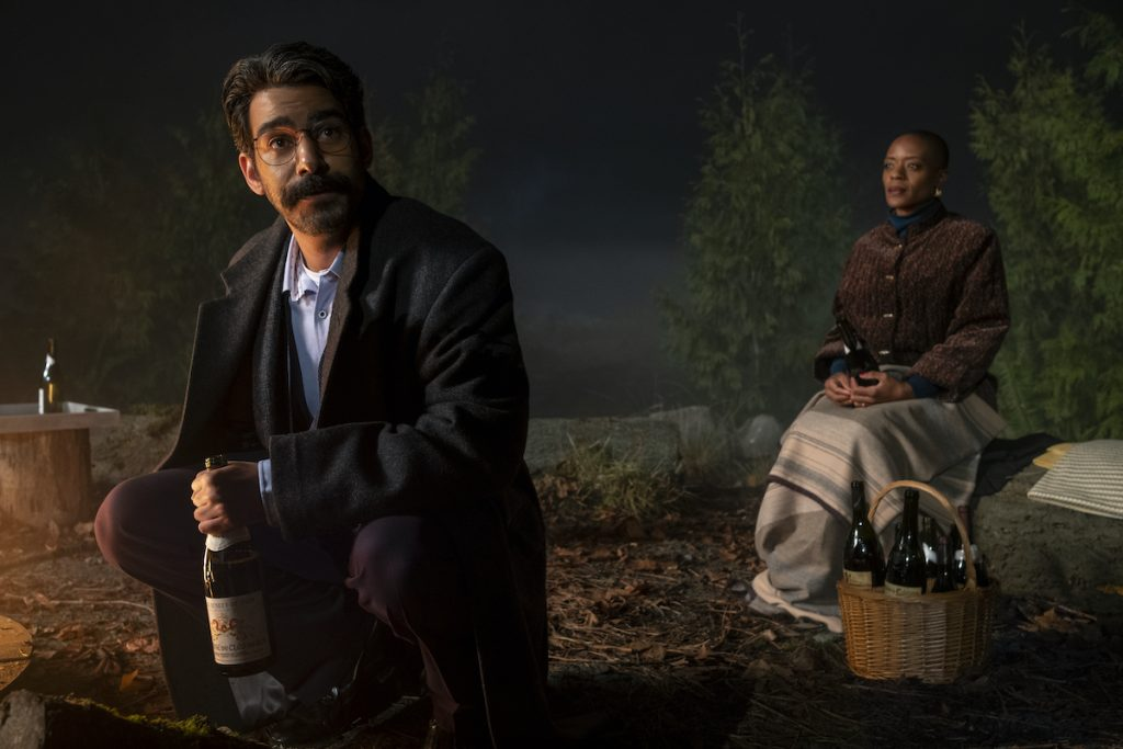 RAHUL KOHLI as OWEN and T'NIA MILLER as HANNAH IN THE BEGINNING OF BLY MANOR
