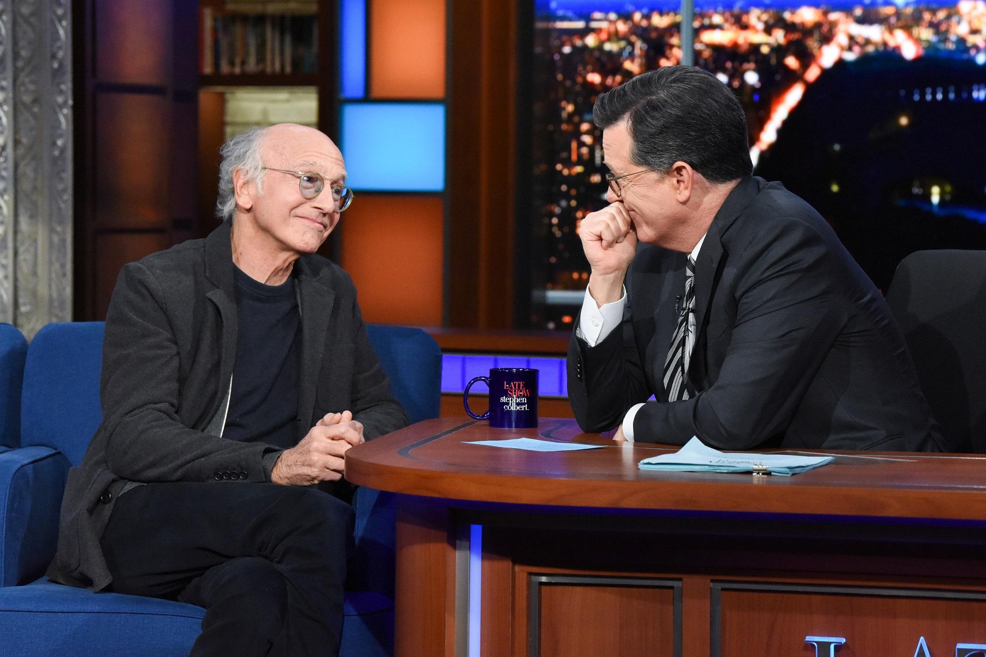Stephen Colbert and Larry David