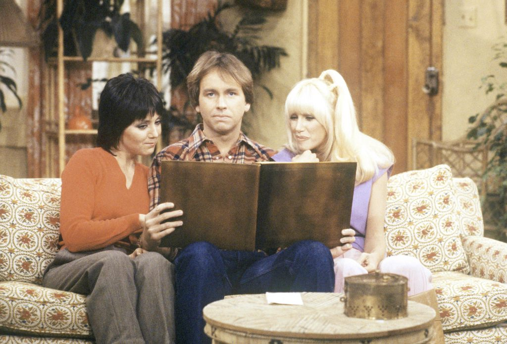 Jack, Janet and Chrissie at Three's Company