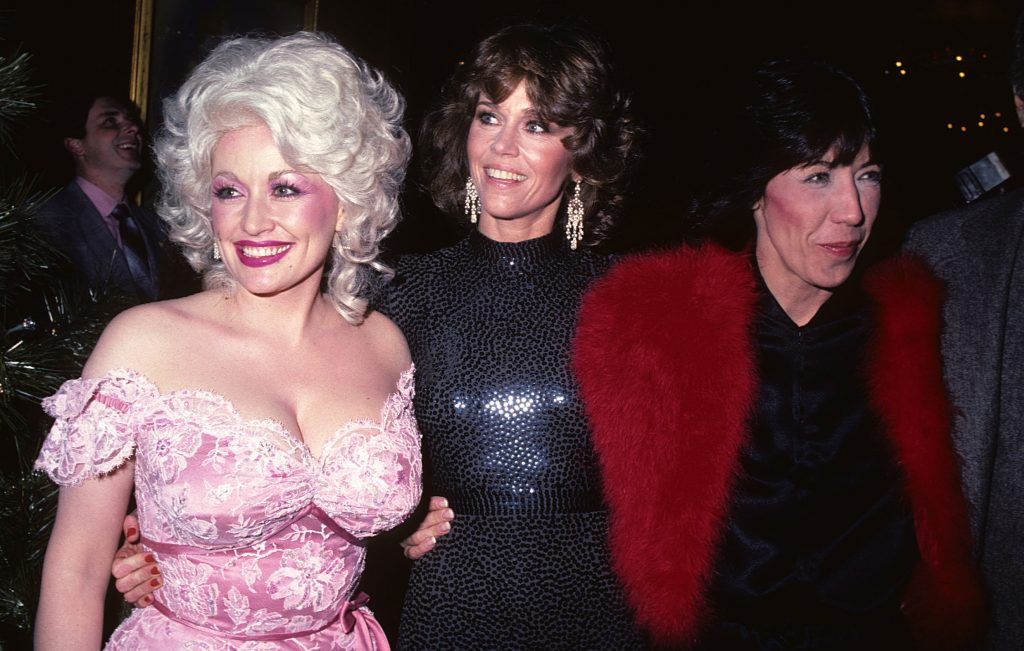 Dolly Parton, Jane Fonda, and Lilly Tomlin at the film premiere of '9 to 5'
