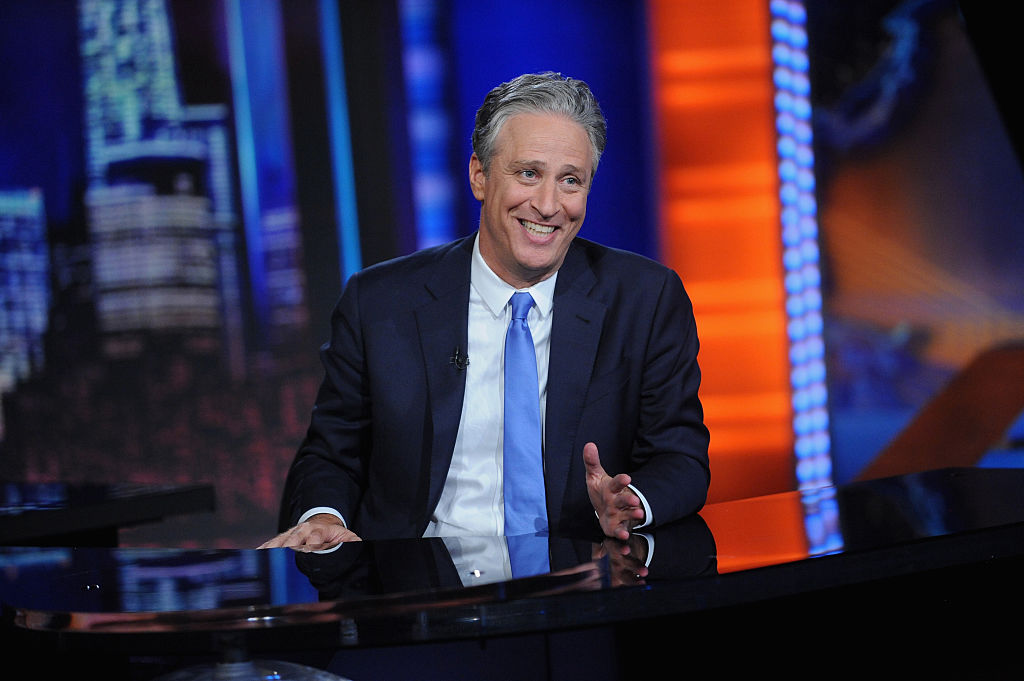 Jon Stewart laughs at 'The Daily Show'