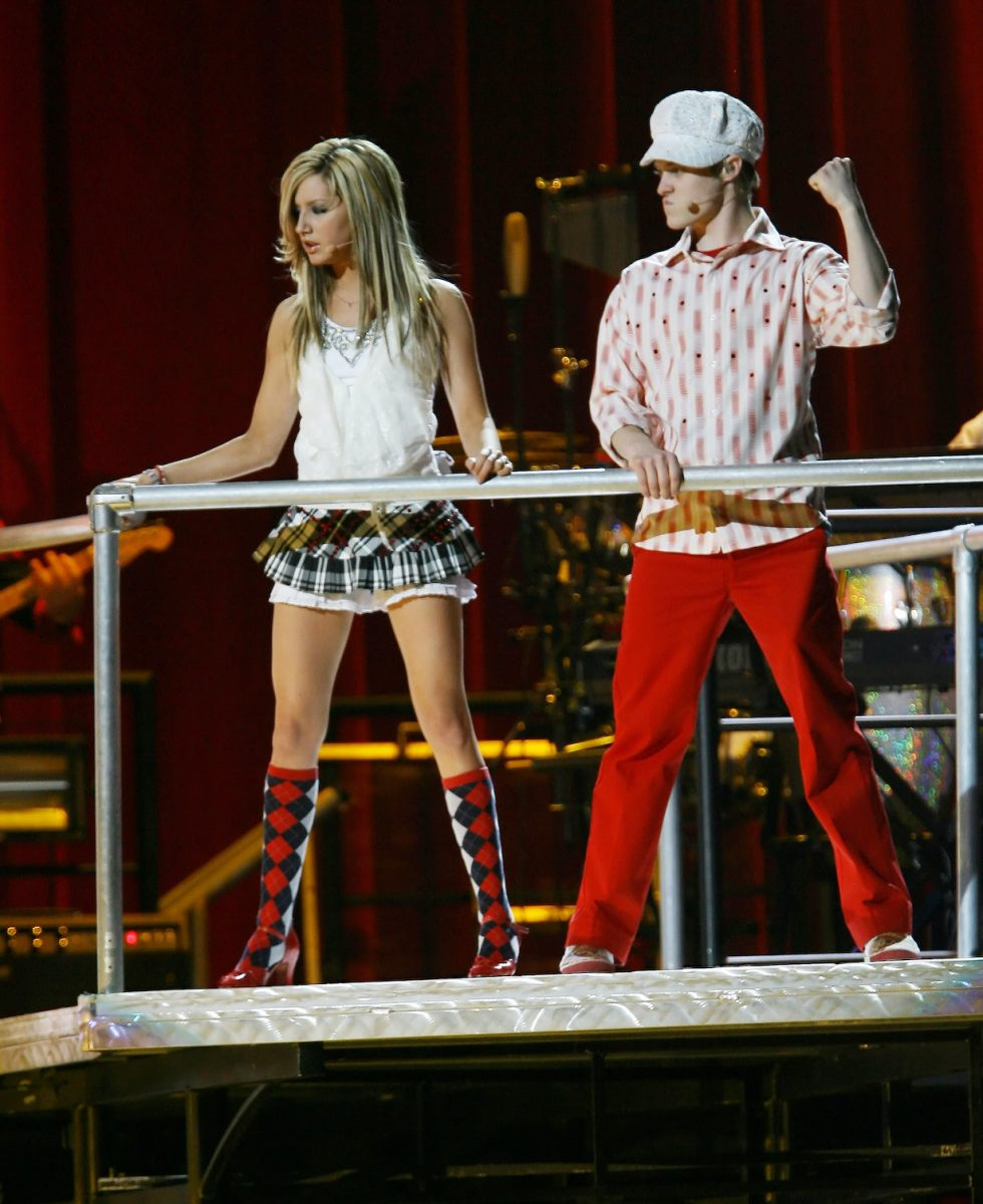 """Ashley Tisdale and Lucas Grabeel at the """"High School Musical"""" concert"""