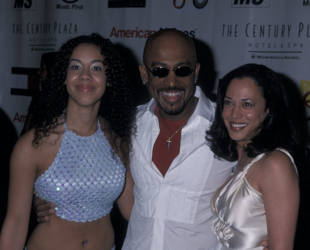 Montel Williams with her daughters Ashley Williams and Kamala Harris